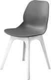灰色颜色塑料椅子,现代设计师 在白色背景隔绝的椅子 家具例证内部向量 免版税库存图片