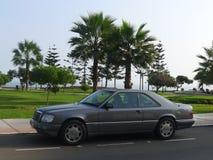 灰色颜色奔驰车E320 sportline 免版税库存照片