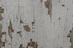 灰色颜色木表面与损坏的油漆的 免版税库存图片