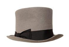 灰色高顶丝质礼帽 库存照片