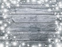 灰色,单色木纹理 神奇圣诞夜 Wi 免版税库存照片