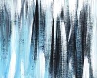 灰色,黑,蓝色镶边农庄背景手画与在一张被定调子的纸的软笔 免版税库存图片