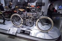 灰色1908年哈利戴维森模型4摩托车 免版税图库摄影