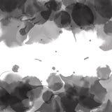 灰色水彩 五颜六色的模板 水彩泼溅物 向量 皇族释放例证
