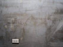 灰色水泥墙壁 免版税库存照片