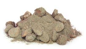 灰色水泥粉末 免版税库存照片