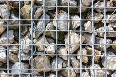 灰色黄色石墙被加强的金属纹理宏指令 免版税库存图片