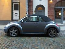 灰色BMW新的甲虫汽车在Luebeck 库存照片