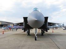 灰色F15老鹰空中优势喷气式歼击机 免版税库存图片