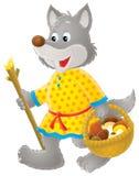 灰色mushroomer狼 免版税库存图片