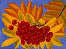 灰莓果,油画 免版税库存图片