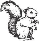 灰鼠木刻 免版税库存图片
