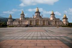 灵山山的灵山梵蒂冈宫殿 库存照片