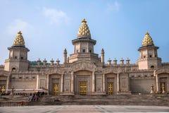 灵山山的灵山梵蒂冈宫殿 库存图片