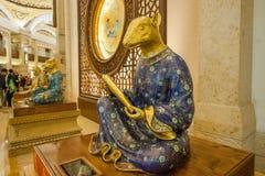 灵山菩萨山风景区灵山梵蒂冈宫殿黄道带 免版税图库摄影