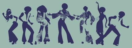 灵魂党时间 灵魂、恐怖或者迪斯科的舞蹈家 库存例证