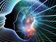 灵魂和头脑诞生  皇族释放例证