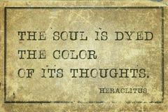 灵魂是被洗染的Heraclitus 免版税库存照片