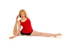 灵活的舞蹈演员 库存图片