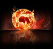 灼烧的世界 库存照片