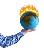 灼烧的世界 免版税库存图片