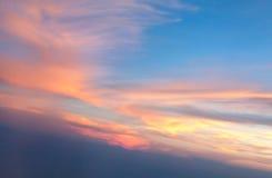 灼烧的云彩 图库摄影