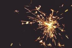 灼烧的五颜六色的闪闪发光 库存图片