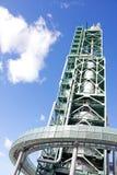 灼烧的可燃气体塔 库存照片