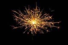 灼烧的圣诞节闪烁发光物 免版税库存照片