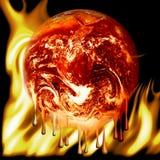 灼烧的地球火 免版税库存图片