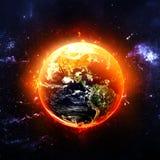 灼烧的地球 库存图片