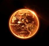 灼烧的地球 免版税库存图片