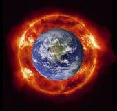 灼烧的地球 免版税库存照片