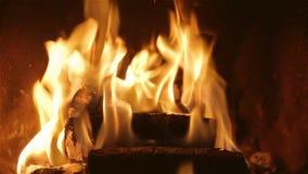 灼烧的壁炉录影 影视素材