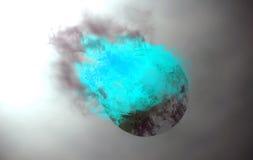 灼烧的天体 图库摄影