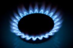灼烧的小煤气炉 库存照片