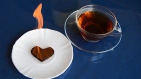 灼烧的巧克力心脏 股票录像