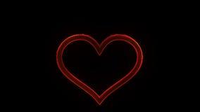灼烧的心脏 库存例证