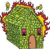 灼烧的房子货币 皇族释放例证