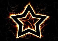 灼烧的星 免版税库存图片