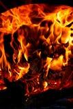 灼烧的木头 库存图片