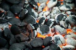 灼烧的木炭 免版税图库摄影