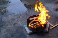 灼烧的格栅 免版税图库摄影