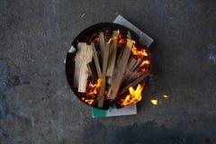 灼烧的格栅 免版税库存图片