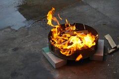 灼烧的格栅 免版税库存照片