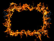 灼烧的框架 图库摄影