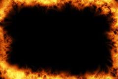 灼烧的框架 库存图片
