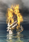 灼烧的欧洲符号 库存图片