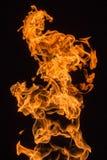 灼烧的气体火焰  免版税库存图片