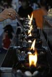 灼烧的油 免版税库存图片